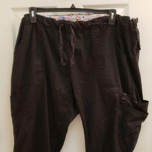 Koi black stretch scrub pants size 2X
